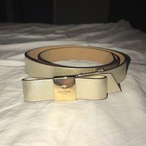 NWOT/ Gold leather Kate Spade Belt